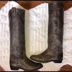 Frye Tall Distressed Leather Boot Size 7